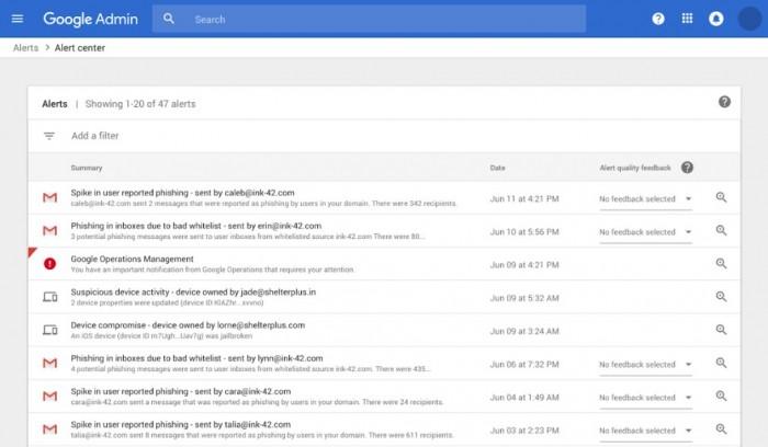 谷歌G Suite上线警报中心,帮助检测和降低安全威胁